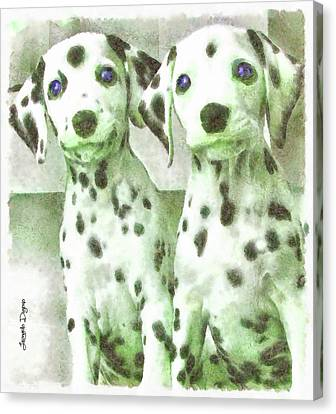 Dalmatian Brothers Canvas Print by Leonardo Digenio
