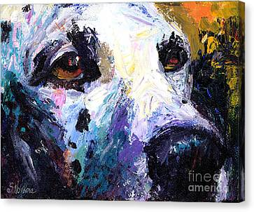 Dalmatian Dog Painting Canvas Print by Svetlana Novikova