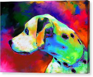 Dalmatian Dog Portrait Canvas Print