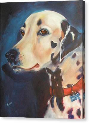 Dalmatian Canvas Print by Kaytee Esser