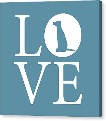 Dalmatian Love Canvas Print by Nancy Ingersoll