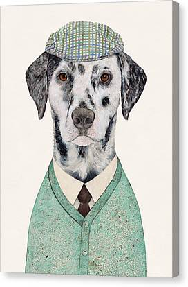 Dalmatian Mint Canvas Print by Animal Crew