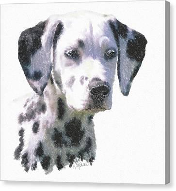 Dalmatian Puppy Canvas Print by Kathie Miller