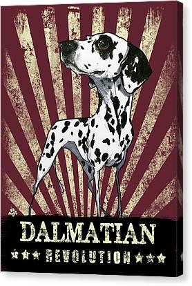 Canvas Print - Dalmatian Revolution by John LaFree