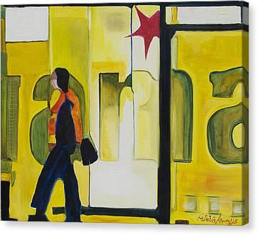 Dam Shopper Canvas Print by Patricia Arroyo