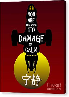 Damage Canvas Print by Justin Moore