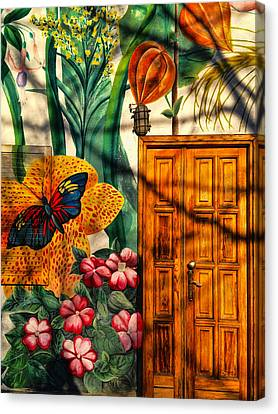 Canvas Print featuring the photograph Damanhur Door by Paul Cutright
