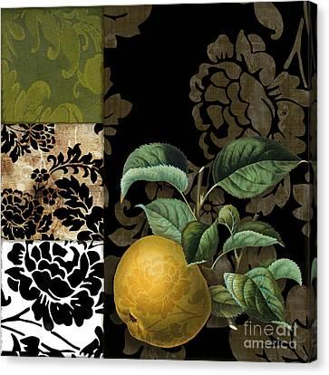 Damask Lerain Pear Canvas Print