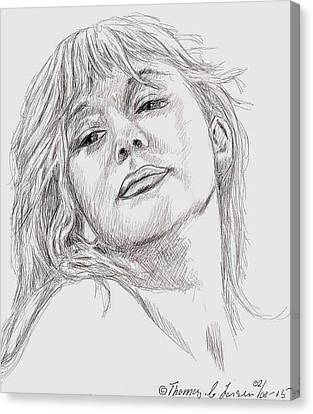 Dame Helen Mirren Canvas Print