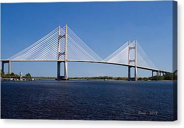 Dames Point Bridge Canvas Print