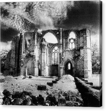 Sombre Canvas Print - Dammarie Les Lys Abbey by Simon Marsden