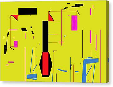 Canvas Print featuring the digital art Damn That Girl Can Dance by Cletis Stump