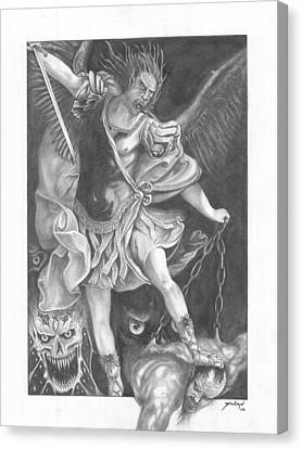 Damnation Of Evil Canvas Print by Julian  B