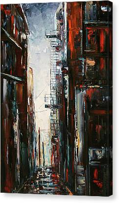 Damp And Cold Canvas Print by Debra Hurd