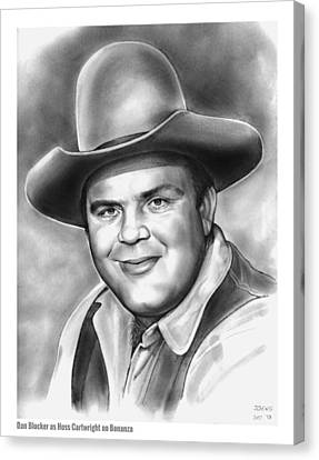 Western Canvas Print - Dan Blocker by Greg Joens