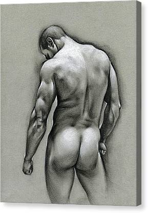 Naked Canvas Print - Dan by Chris Lopez
