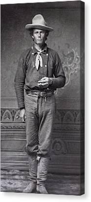 Dan Dedrick - Billy The Kid's Best Friend  C. 1877 Canvas Print by Daniel Hagerman