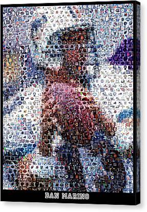 Dan Marino Mosaic Canvas Print by Paul Van Scott