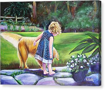 Dana And Friend Canvas Print by Patricia Piffath