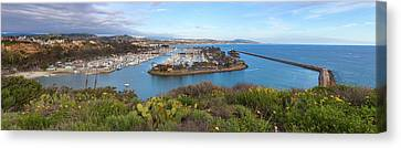 Canvas Print featuring the photograph Dana Point Panoramic by Cliff Wassmann