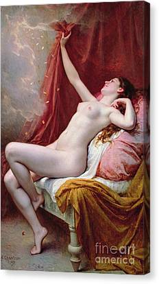 Shower Canvas Print - Danae by Alexandre-Jacques Chantron
