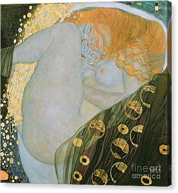Blond Canvas Print - Danae by Gustav Klimt