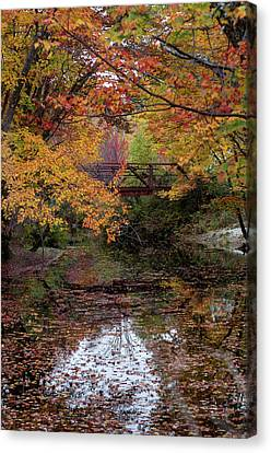 Danbury Bridge In Fall Canvas Print