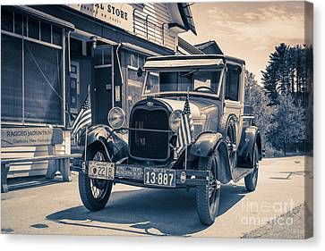 Danbury Country Store Ford Pickup Canvas Print by Edward Fielding
