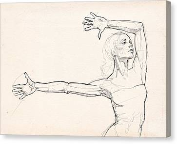 Dance Anatomy Canvas Print by H James Hoff