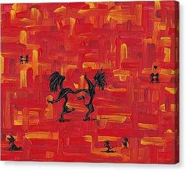 Canvas Print featuring the painting Dance Art Creation 3d9 by Manuel Sueess