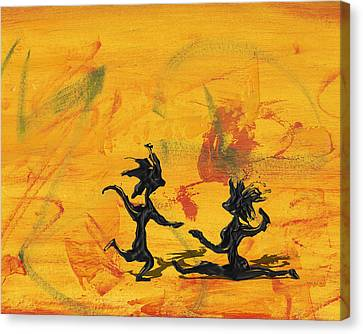 Canvas Print featuring the painting Dance Art Dancing Couple 238 by Manuel Sueess