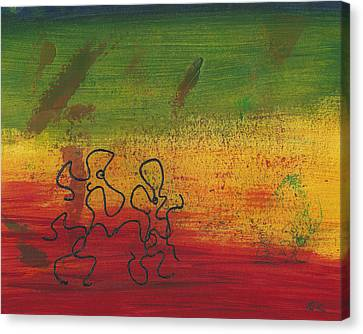 Canvas Print featuring the painting Dance Art Dancing Couple 28b by Manuel Sueess