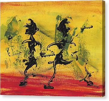 Canvas Print featuring the painting Dance Art Dancing Couple Viii by Manuel Sueess