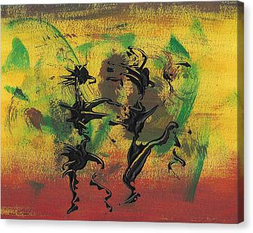 Canvas Print featuring the painting Dance Art Dancing Couple Xi by Manuel Sueess