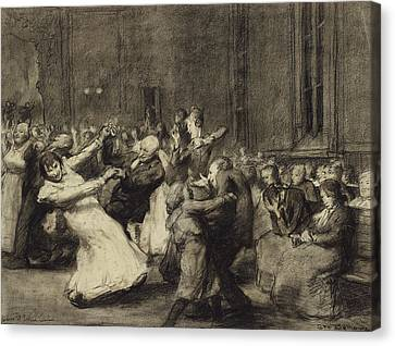 Dance At Insane Asylum Canvas Print by George Wesley Bellows