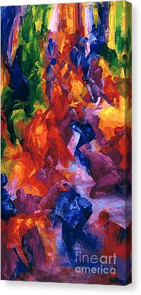 Celebrated Canvas Print - Dance by Bayo Iribhogbe