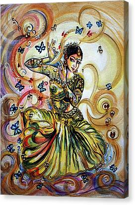 Dance And Butterflies Canvas Print by Harsh Malik
