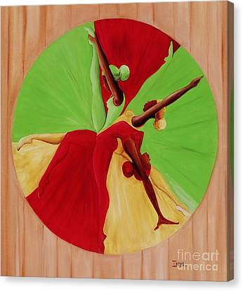 Dancer Canvas Print - Dance Circle by Ikahl Beckford