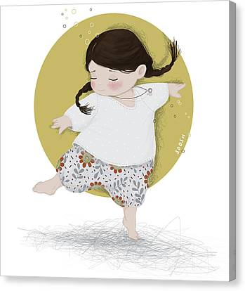 Braids Canvas Print - Dance, Dance, Dance by Soosh