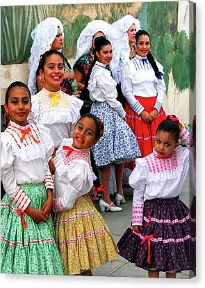 Dance Girls Dance Palm Springs Canvas Print by William Dey