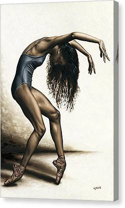 Ballet Dancers Canvas Print - Dance Intensity by Richard Young