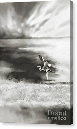 Canvas Print featuring the digital art Dance Like Nobody's Watching by Lois Bryan