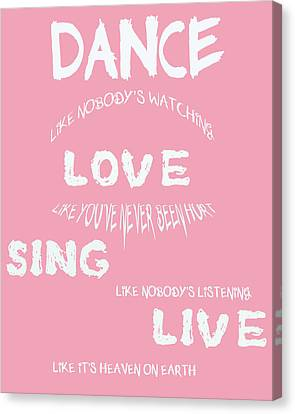 Dance Like Nobody's Watching Canvas Print by Georgia Fowler
