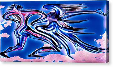 Sombre Canvas Print - Dance Macabre by Patrick Mansen