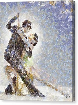 Dance Of Romance Canvas Print by Shirley Stalter