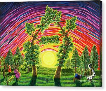 Dance Of Sunset Canvas Print