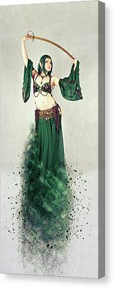 Performers Canvas Print - Dance Of The Belly by Nichola Denny