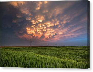 Dance Of The Clouds Canvas Print by Sean Ramsey