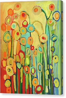 Dance Of The Flower Pods Canvas Print by Jennifer Lommers