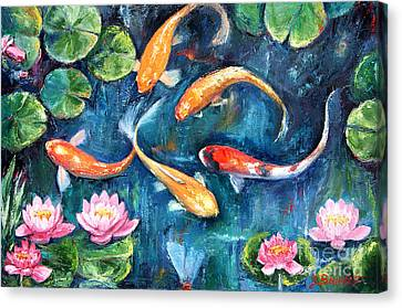 Dance Of The Koi Canvas Print